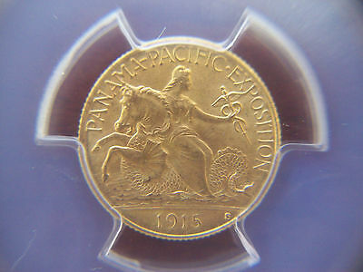 1915 S Panama Pacific $2.50 Gold Commemoritive PCGS MS64