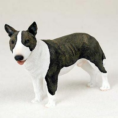 Bull Terrier Brindle Hand Painted Canine Collectable Figurine Statue