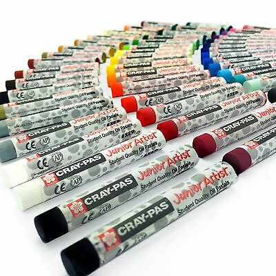 Sakura Cray-Pas Junior Artist Oil Pastels – Pack of 50 – 8mm x 60.8mm - XEP50