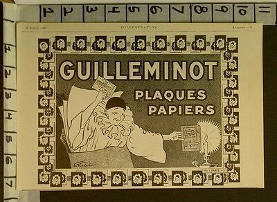 1925 Guilleminot French Clown Mime Poster  Style Deco Camera Photo  22772 22772