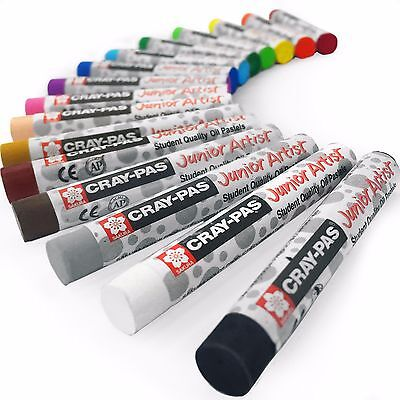 Sakura Cray-Pas Junior Artist Oil Pastels – Pack of 16 – 8mm x 60.8mm - XEP16