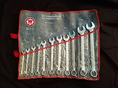 "Wright Tool 711 Combination Wrench 3/8""-1"" Set 11 Piece"