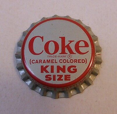 "Vintage Coca Cola 1960's ""King Size""..cork..unused..SODA BOTTLE CAP..Mint!"