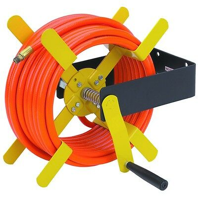"New! 100 Ft. Open Side Steel Air Hose Reel For 100' Of 3/8"" Or 50' Of 1/2"" Hose!"