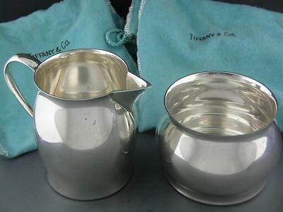 Sterling TIFFANY & CO Creamer & Sugar Bowl w/ original bags