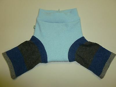 wool longies longie *NEW* diaper cover soaker sky blue navy & gray