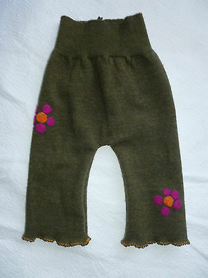 wool longies longie *NEW* diaper cover soaker pants pink retro flowers S