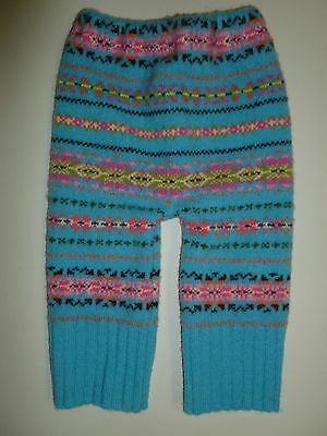 wool longies longie *NEW* diaper cover soaker pants blue/pink M