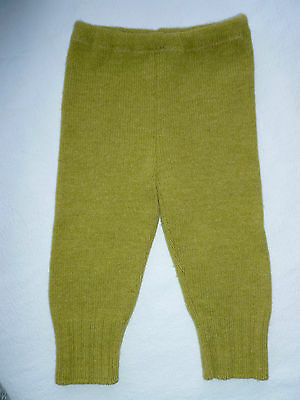 wool longies longie *NEW* diaper cover soaker pants yellowish green L