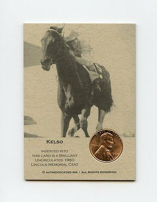 KELSO 1960 Penny HORSE RACING Trade Coin Card RARE