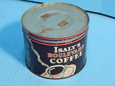 Vintage Islay's Coffee Tin Can Youngstown OH w/ Lid Advertising Store