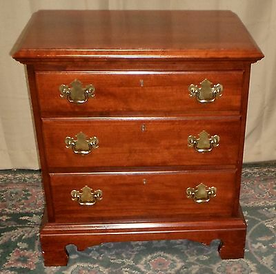 LINK TAYLOR CHERRY NIGHTSTAND 3 Drawer Bedside Chest Nightstand VINTAGE