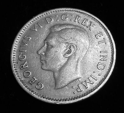 1947 Canadian 10-Cents - 80% Silver - Business Strike - Circulated *