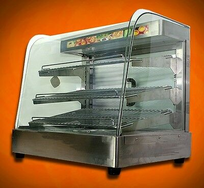 """New MTN Commercial Large 25""""x23""""x17"""" Countertop Food Pizza Display Warmer"""