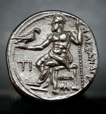 MS⭐️ALEXANDER THE GREAT drachm.Magnificent portrait of Zeus Very rare Greek Coin