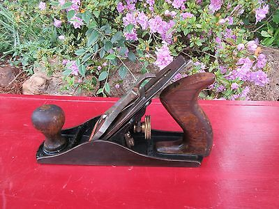 Vintage Stanley Bailey No.4 Woodworking Plane Smooth Bottom USA