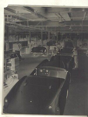1954 Kaiser Darrin on Assembly Line ORIGINAL Factory Photograph Negative ww9425