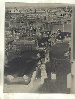 1954 Kaiser Darrin on Assembly Line ORIGINAL Factory Photograph Negative ww9428