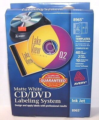 Avery 8965 CD/DVD Design Kit with 40 Matte Labels & 10 Inserts
