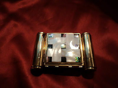 VINTAGE MAJESTIC COMPACT SET, POWDER, LIPSTICK AND PERFUME GOLDTONE VANITY 40,s