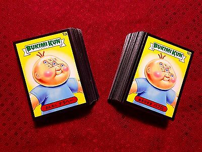 Garbage Pail Kids 2014 Bukimi Kun Online Exclusive BLACK Parallel Set 132 Cards