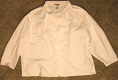 Red Kap Men's Gripper-Front Short Butcher Coat White Size 4XL 4X
