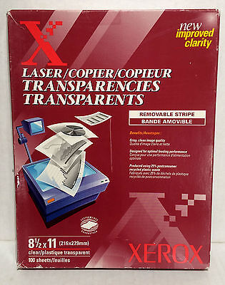 Xerox Transparency Film Removable Stripe 3R3108 100 Sheets