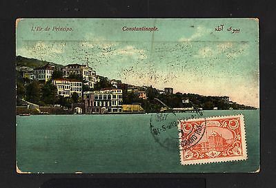 15860-TURKEY-OTTOMAN POSTCARD PERA (constantinople) to BORDEAUX (france)1919.