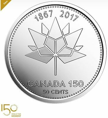 2017 Canada 50-cents Coin - 150th Birthday of Canada from Mint Collectors Roll