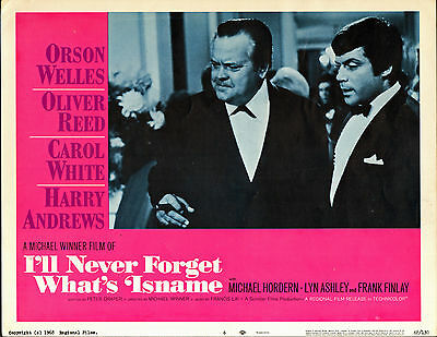 I'LL NEVER FORGET WHAT'S 'ISNAME orig lobby card poster OLIVER REED/ORSON WELLES