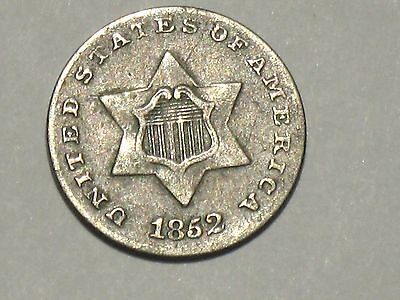 1852 Three Cent Silver, U.S. TYPE COIN