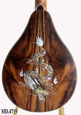 Dragon Inlay Solidwood Acacia-Spruce-Armrest A Style Mandolin Handmade-bag 4719