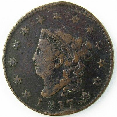 1817 Coronet Head Large Cent 1c Early Date