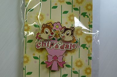 Chip and Dale in a bouquet Japan Disney Store 3D pin