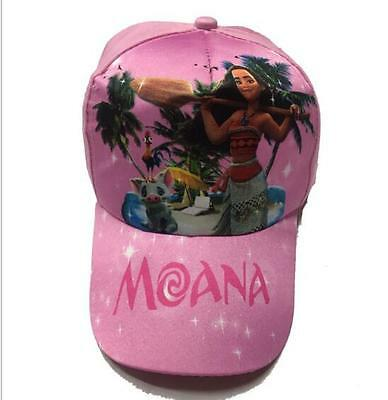 1pcs princess Moana pink Baseball Caps Mesh Cap Adjustable Hat Children Girls