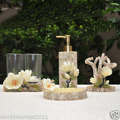 European Carving Resin Wedding Gift Home Bathroom Wash Supplies Five Set