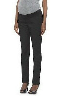NWT Liz Lange Maternity Under the Belly Black Straight Leg Work Pants M Medium