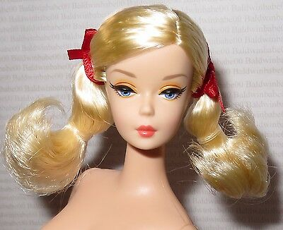 Nude Barbie ~ Blonde Pigtails Cherry Pie Picnic Reproduction Doll For Ooak
