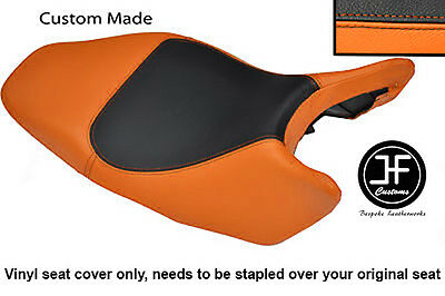 Black And Orange Vinyl Custom Fits Honda Hornet Cb 600 02-04 Seat Cover Only
