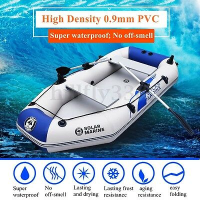 2.3M Inflatables Kayak Tender Pontoon Boat Rafting Fishing Dinghy For 3-4 Person
