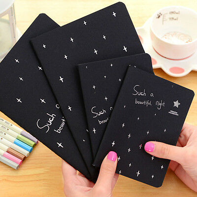 16/32/56K Hot Black Sketch Graffiti Notebook Notepad For Drawing Painting Office