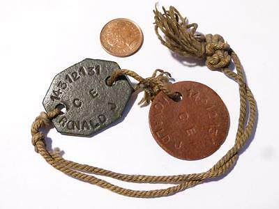 WW1-2 Soldiers Dog Tags ID 14312131 RONALD J Not Researched  #V28