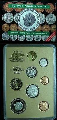 Australia 1991 Proof Set- The Last With 1¢ & 2¢ Coins