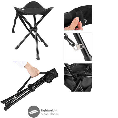 Portable Stool Tripod Chair Hiking Camping Fishing Seat Folding 3 Legs+Carry Bag