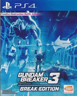 Gundam Breaker 3 Break Edition PS4 Game English version New Physical Disc