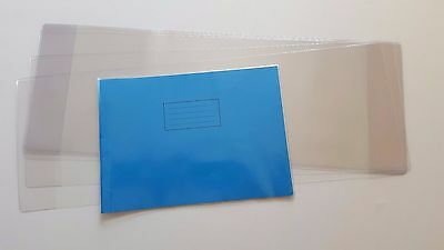 3 x STRONG PVC CLEAR A4 LANDSCAPE SCHOOL EXERCISE BOOK COVERS H 210mm x L 600mm