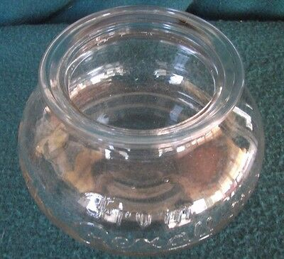 Antique Vintage Rexall General Store Sun Glass Display Jar Bowl Apothecary Drug