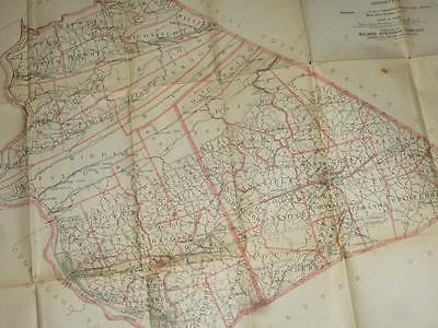 1914 Farm Journal MAP Dauphin & Lebanon COUNTIES PA Wilmer Atkinson Paxton Heide