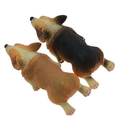2 Pcs Cute Resin Corgi Pembroke Fridge Magnets Lying Animals Home Decor Novelty