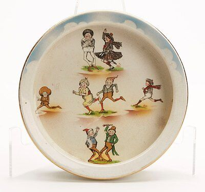 Rare Antique Grimwades Brownies Baby Food Bowl Early 20Th C
